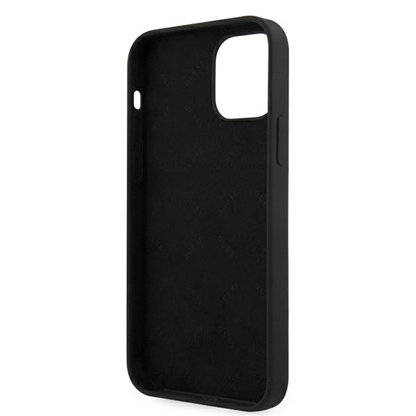 Guess GUHCP12MLSVSBW iPhone 12/12 Pro 6,1' czarno biały/black white hardcase Silicone Vintage - 7
