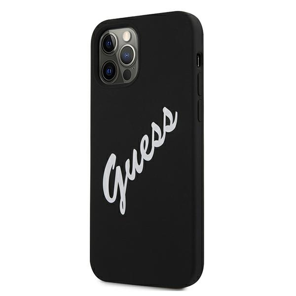 Guess GUHCP12MLSVSBW iPhone 12/12 Pro 6,1' czarno biały/black white hardcase Silicone Vintage - 2