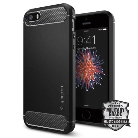 Etui Spigen Rugged Armor Iphone 5s/Se Black - 1