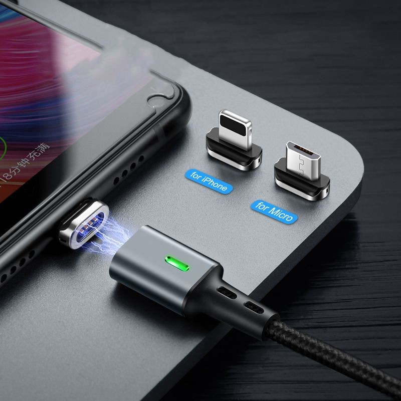 ELOUGH 3A LIGHTNING MAGNETIC CABLE BLACK - 3
