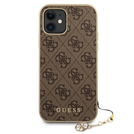 Etui Guess GUHCP12SGF4GBR do iPhone 12 mini 5,4' brązowy/brown hardcase 4G Charms Collection - 3