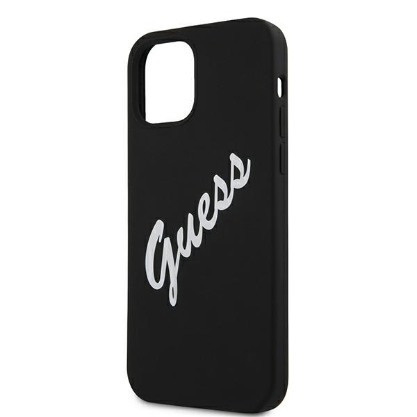 Guess GUHCP12MLSVSBW iPhone 12/12 Pro 6,1' czarno biały/black white hardcase Silicone Vintage - 6