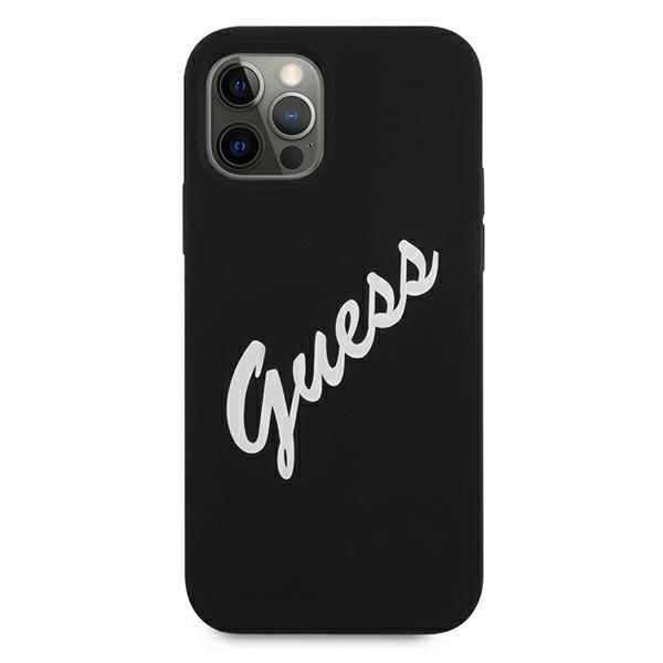 Guess GUHCP12MLSVSBW iPhone 12/12 Pro 6,1' czarno biały/black white hardcase Silicone Vintage - 3