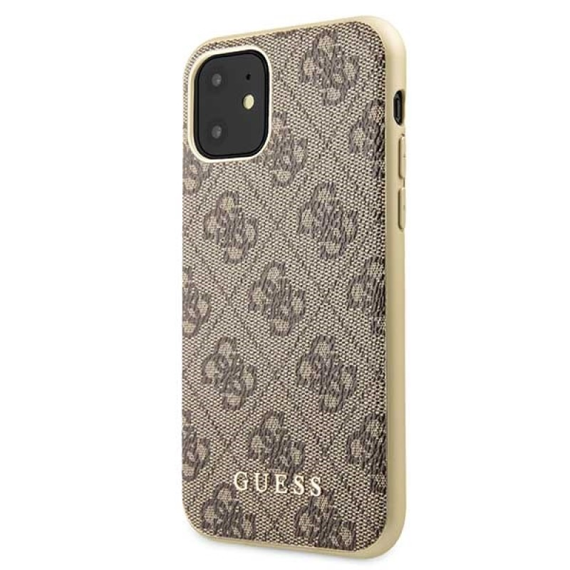 Etui Guess GUHCN61G4GB do iPhone 11 brązowy/brown hard case 4G Collection - 2