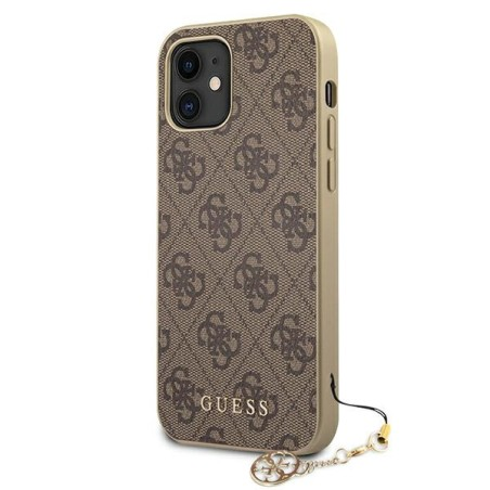 Etui Guess GUHCP12SGF4GBR do iPhone 12 mini 5,4' brązowy/brown hardcase 4G Charms Collection - 2